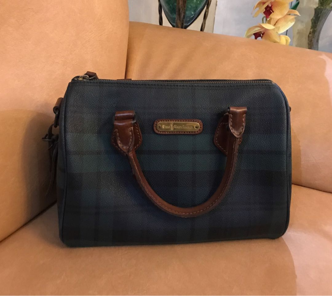 976c40d5b7d Authentic Ralph Lauren Blackwatch Green Vintage Plaid Leather Bag - Speedy  25, Women s Fashion, Bags   Wallets on Carousell
