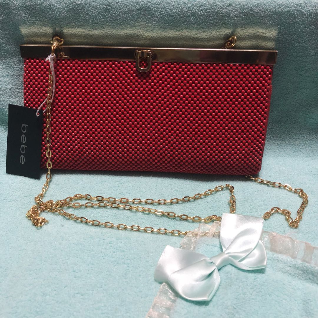 1f9944d2a17 Bebe Beaded Chain Clutch / Wallet (woc), Luxury, Bags & Wallets ...