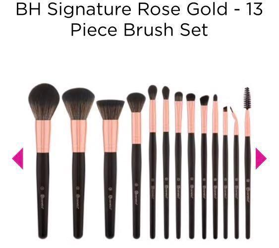 ce46b6ca96c8e BH Cosmetics - Brand New BH Signature Rose Gold 13 Piece Brush Set ...