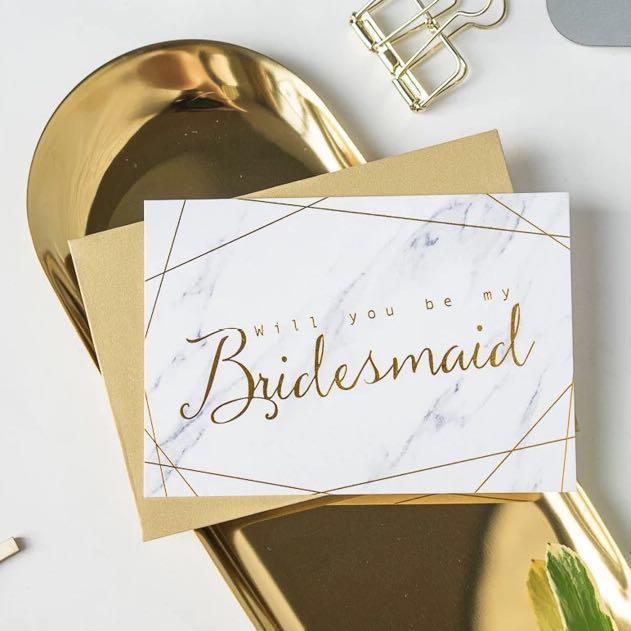 Bridesmaid Invitation Cards Will You Be My Bridesmaid Min Order
