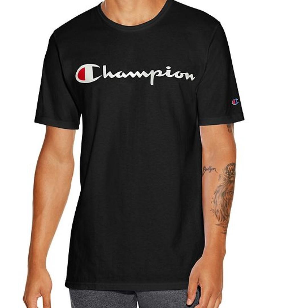 c231e3cc5 Champion Men's Classic Jersey Script Tee, Men's Fashion, Clothes, Tops on  Carousell