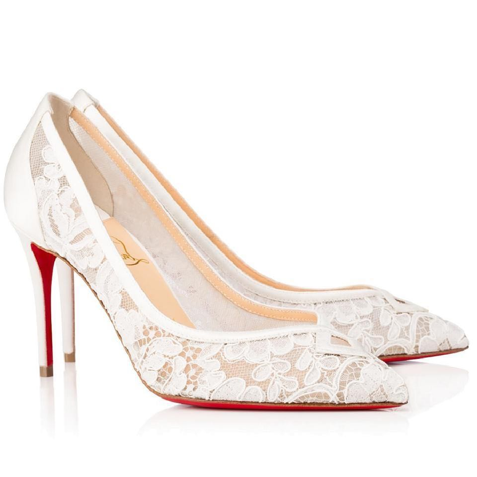 ad1289bb3743 Christian Louboutin White Lace heels