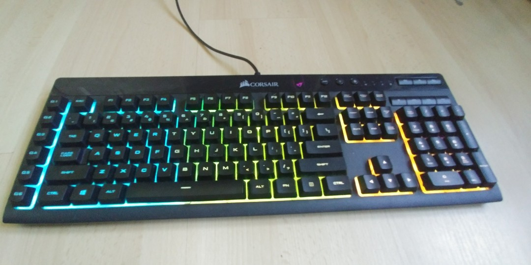 e533edbb54c Corsair K55 RGB Gaming Keyboard, Electronics, Computer Parts & Accessories  on Carousell