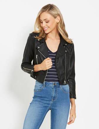 Dotti Cropped Biker Jacket
