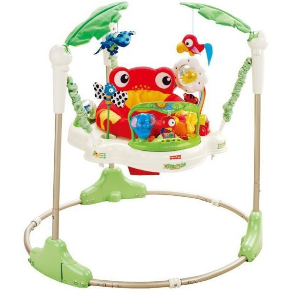 109dd1089 Fisher Price Rainforest Jumperoo with brand new seat cover