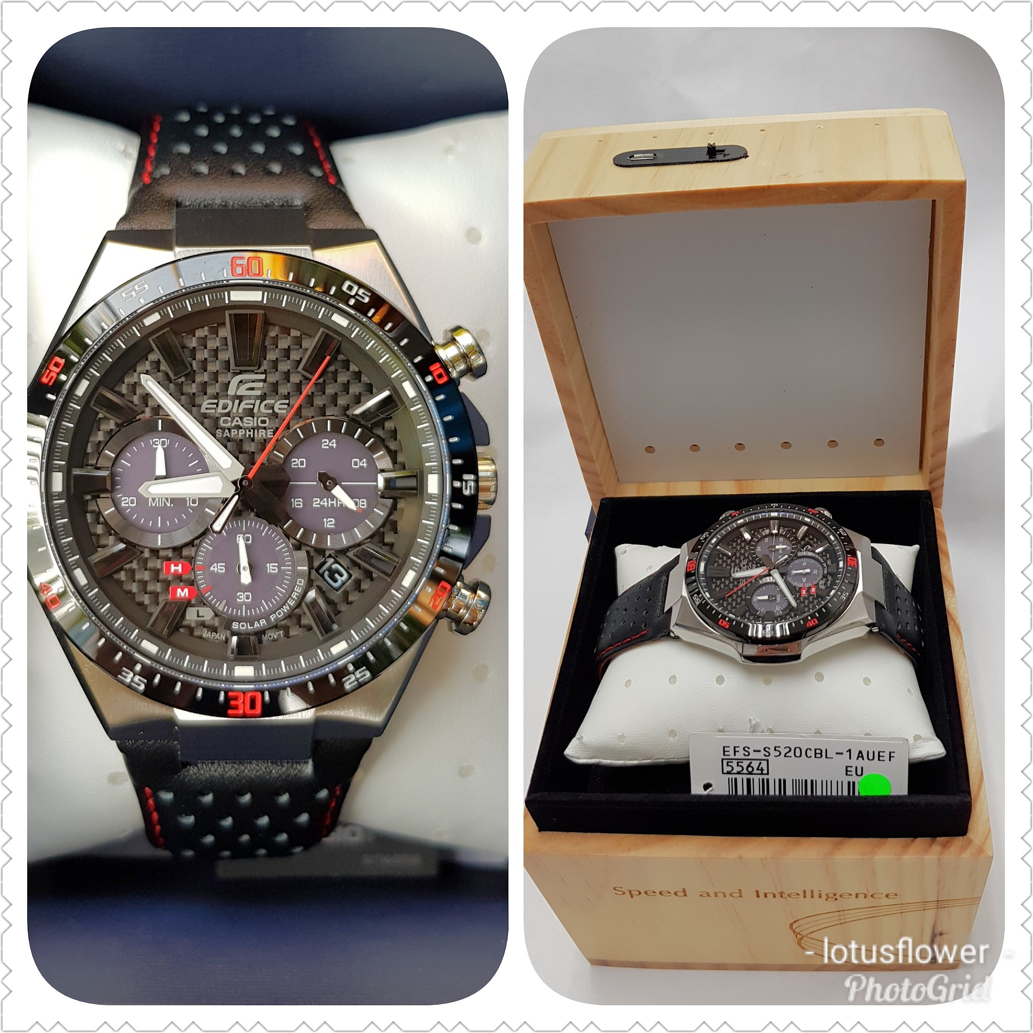 89e7853290fb Guarranteed 100% Brand New Authentic Casio Edifice Sapphire crystal Solar  watch or Full refund. FREE limited Edition Solar Re-Charging Station