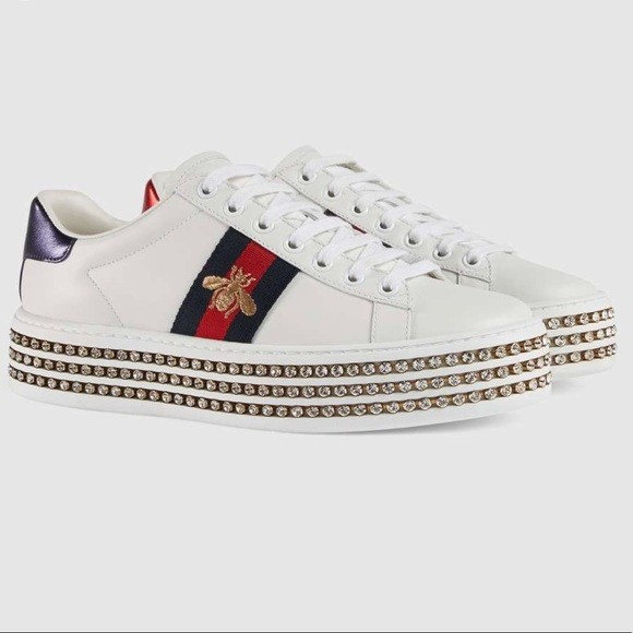 5442acb5478 Gucci Sneakers with Diamond Platform