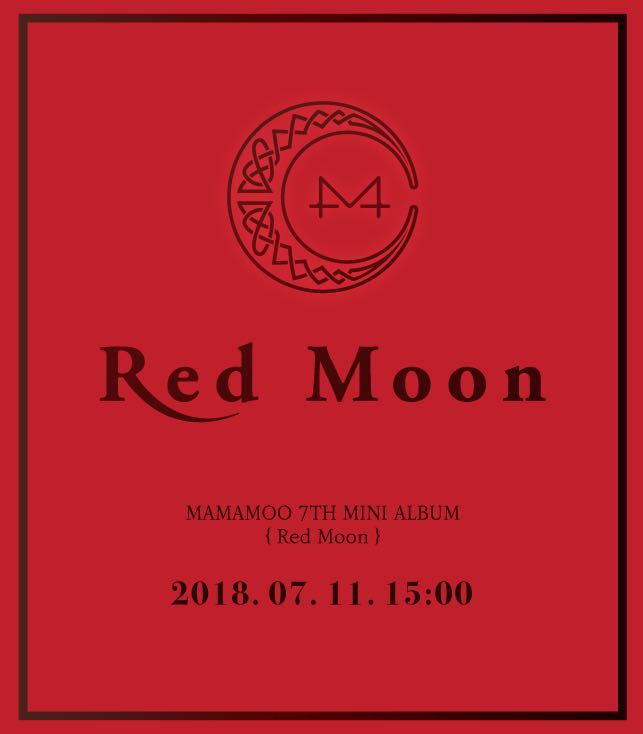 [Inc EMS from official online store] MAMAMOO - Mini Album Vol 7 [RED MOON]