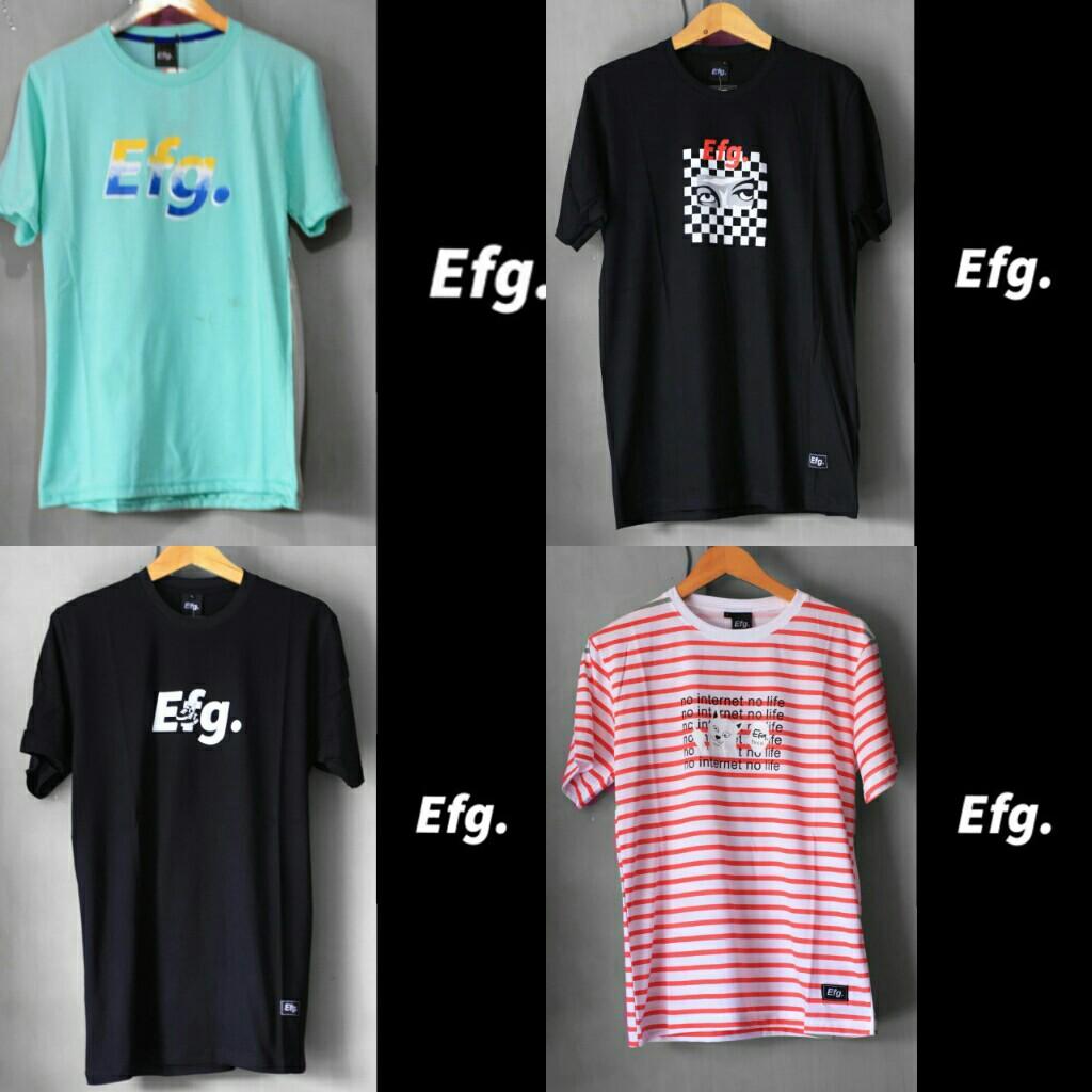 Kaos Distro Efg Men S Fashion Men S Clothes Tops On Carousell