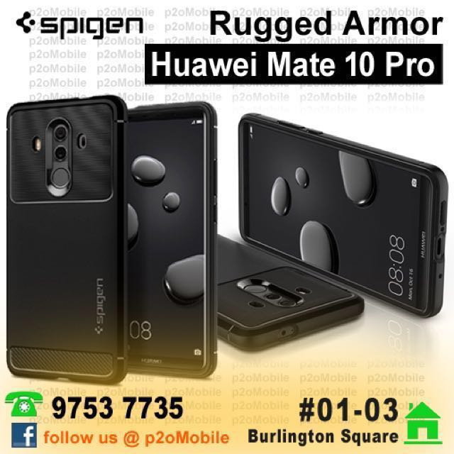 new concept 9e558 b9acc [Mate 10 Pro] Spigen Rugged Armor for Huawei Mate 10 Pro
