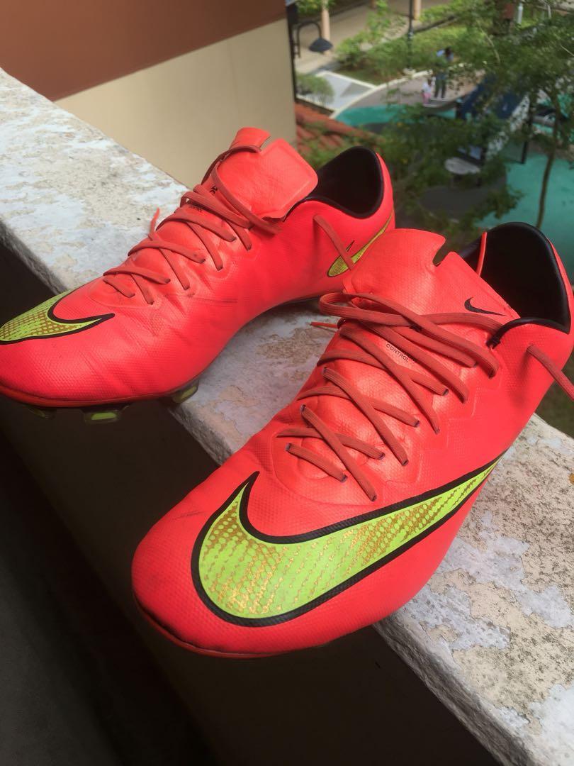 ORANGE** Nike Mercurial Soccer Boots