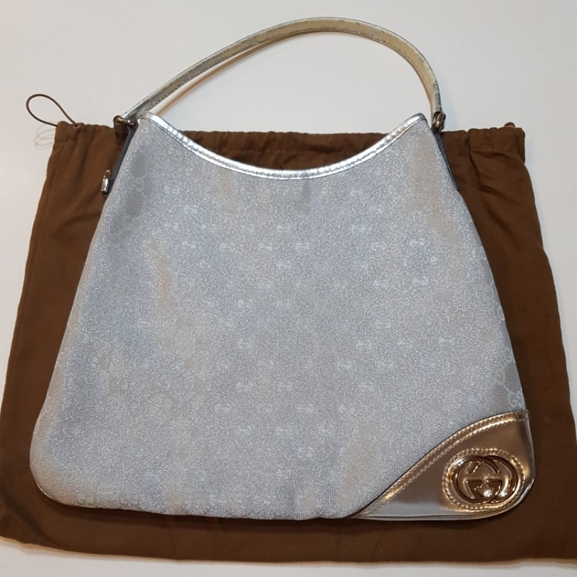 5f400eeace3b Preloved Gucci GG canvas new britt hobo, Women's Fashion, Bags ...
