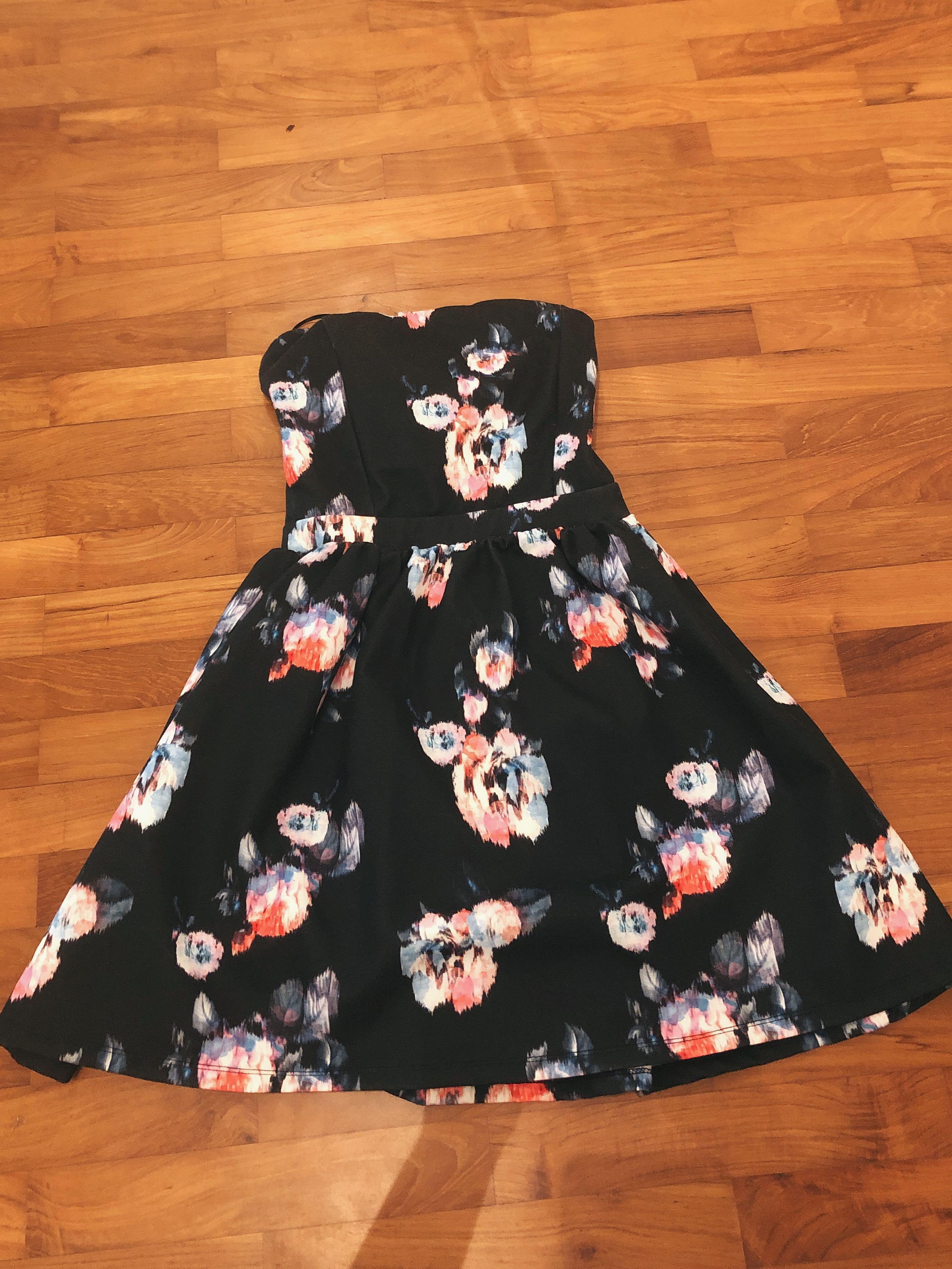 b7f4a2789d Pull   Bear Floral Tie Back Dress