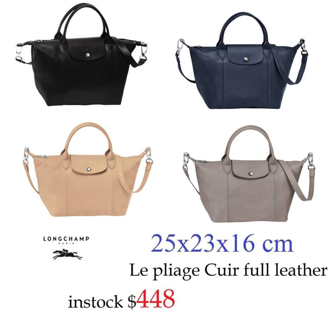 fb2ef919c661 READY STOCK SG - BRAND NEW - AUTHENTIC Longchamp LE PLIAGE cuir ...