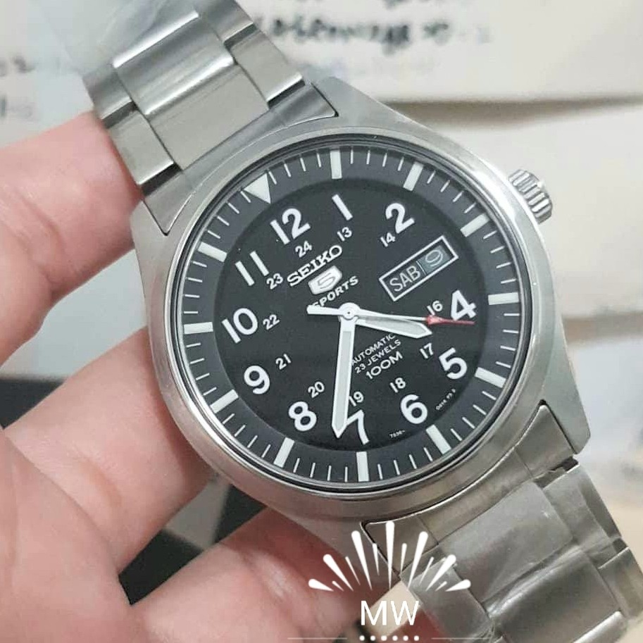 Seiko 5 Automatic Mens Stainless Steel Watch Brand New Luxury