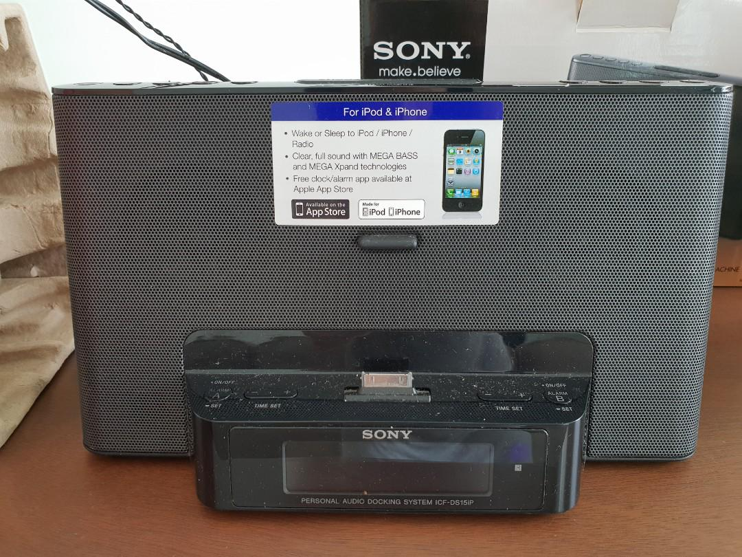 Sony Speaker Dock / Clock Radio for iPhone & iPod