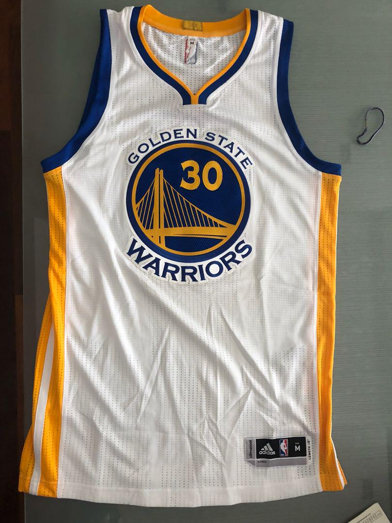 newest 6e6ab cdd23 Steph Curry Adidas Authentic Jersey Size M, Sports, Sports ...