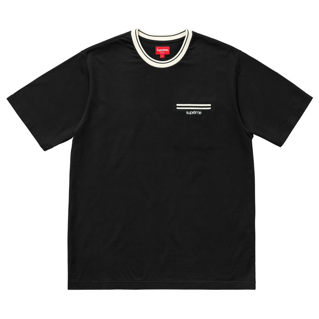 4d532ff1ac3 Supreme Ribbed Pocket Tee Black