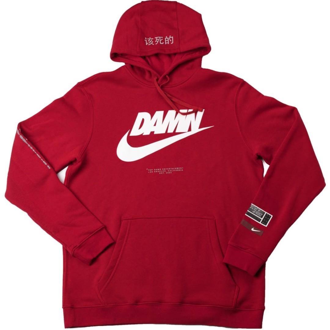 5875b21a4ee2 TDE x Nike Swoosh Logo Hoodie Red