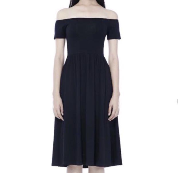 4a7d361d00 tem black zera off-shoulder midi dress