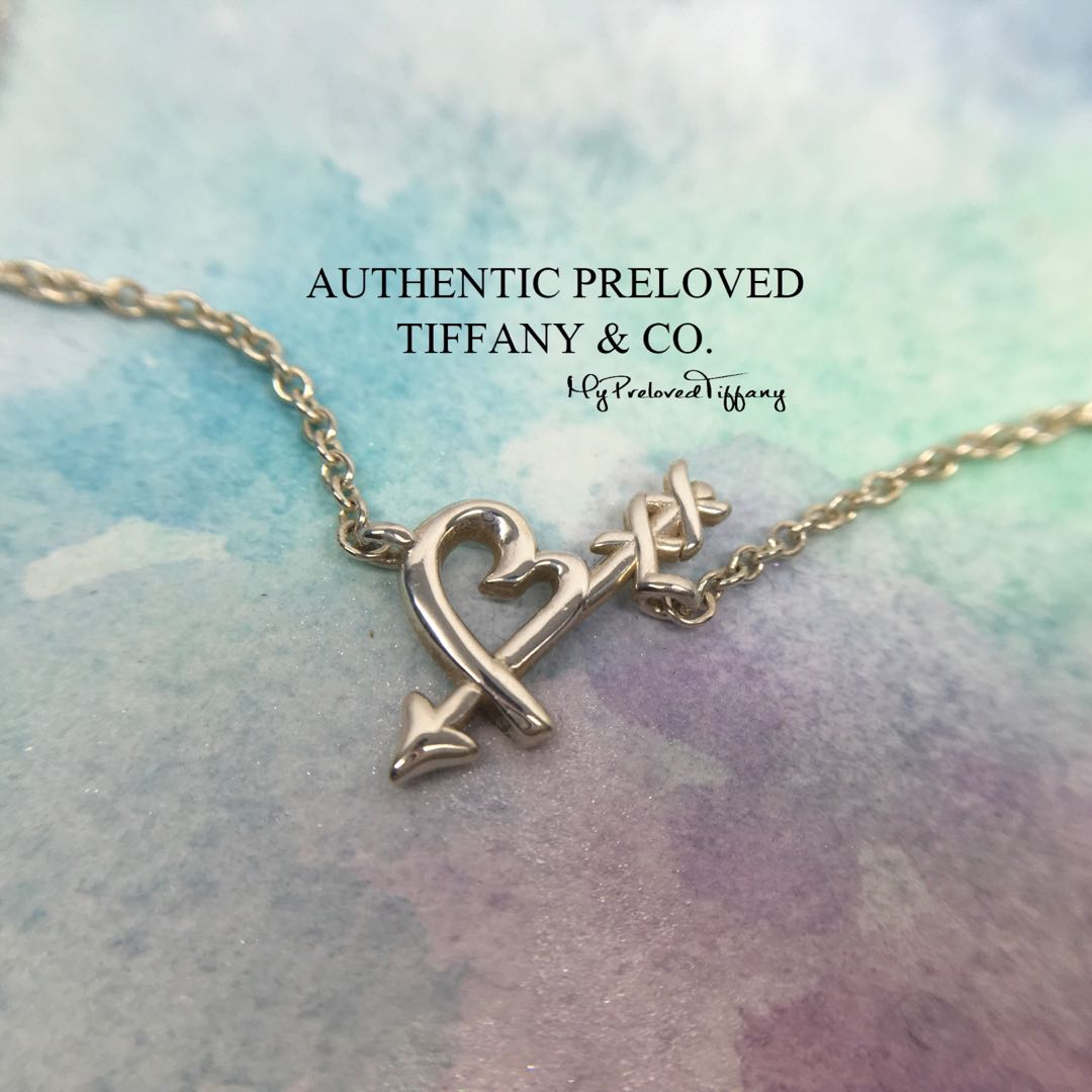 999605bbe Excellent Authentic Tiffany & Co Paloma Picasso Loving Heart Arrow ...