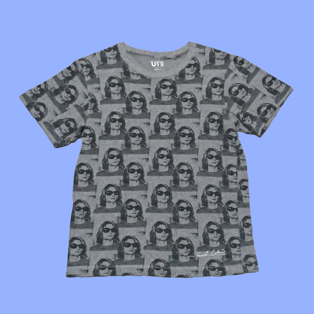 e1332323 Uniqlo Kurt Cobain Graphic T-Shirt with Embroidery, Men's Fashion ...