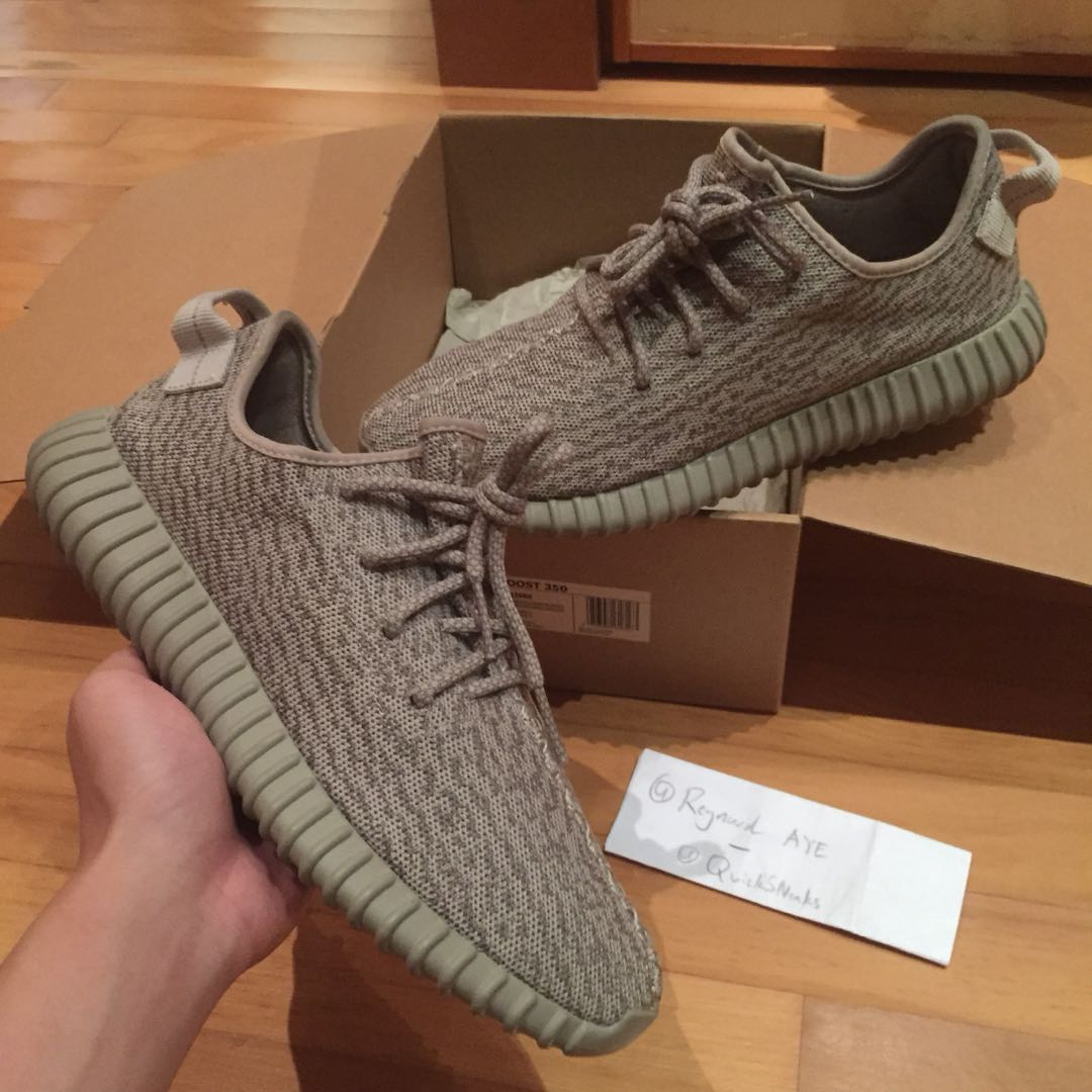 "hot sales dbab3 d4899 US 9 VNDS Yeezy Boost 350 V1 "" Moonrock "", Men s Fashion, Footwear ..."