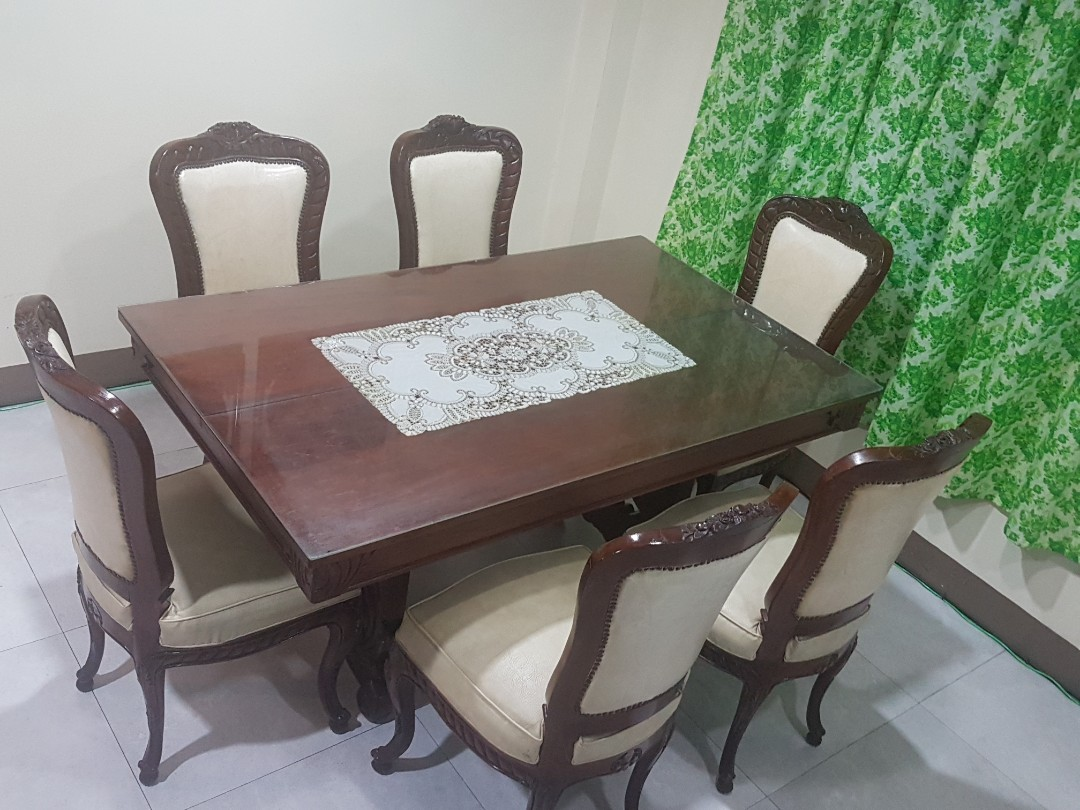 Vintage Dining Table Chairs Home Furniture On Carousell