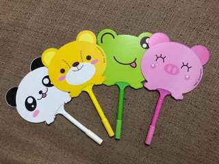🚚 Animal Character Fan Pen (Blue Ink)
