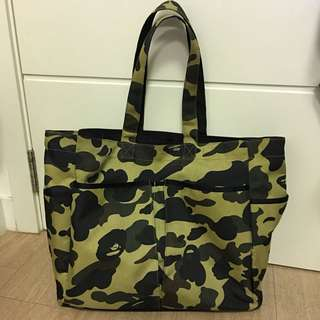 A Bathing Ape camouflage tote bag