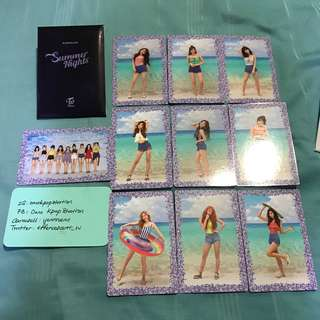 Twice Summer Nights DTNA PO Benefit Official Photocard Set 1
