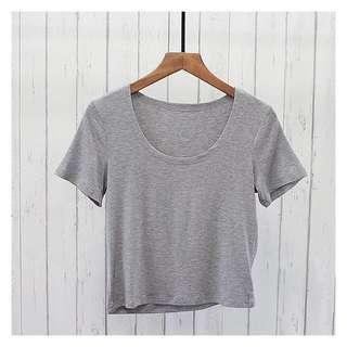 🚚 灰色短版上衣#女裝半價拉