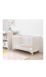 Solgul Baby Cot Ikea and vyssa mattress