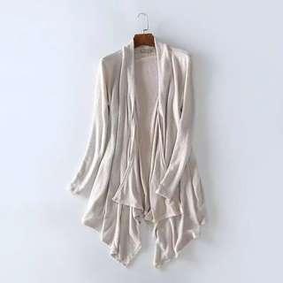 🚚 101480歐美寬鬆大碼中長不規則下襬長袖針織衫size:2XL    #女裝半價拉