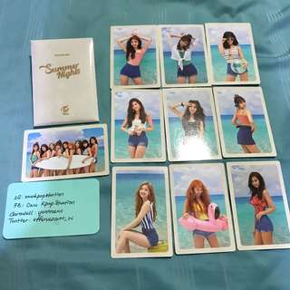 Twice Summer Nights DTNA Official PO Benefit Photocard Set 3