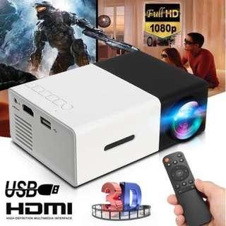 Portable 1080P LED Mini Projector Hig Portable 1080P LED Mini Projector High Resolution Ultra YG300 projector