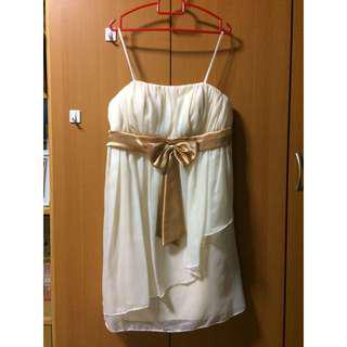 Cream Layered Dress