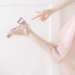 Miss vivi girl 韓國流行第一線 時尚涼鞋👡獨特鞋跟美 35-39 /淺膚、深膚