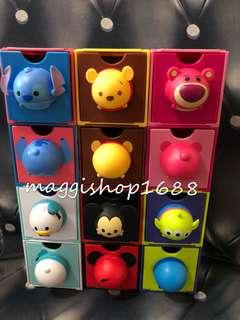 一套12款*7 -11 × Disney 迪士尼Tsum Tsum 3D造型米奇勞蘇小熊維尼史迪仔三眼仔唐老鴨百變組合擺設盒子公仔層層疊