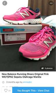 New balance sport shoes pink