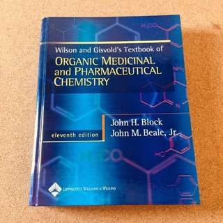 Organic Medicinal & Pharmaceutical Chemistry Book 11th Ed.