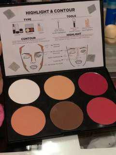 Enhance cosmetics highlight and contour