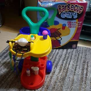 Barbecue bbq toy cart