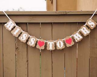 Wedding Deco Bunting (Miss to Mrs)