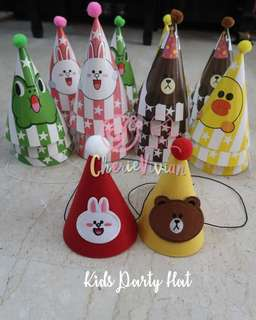 *20 pieces* Line Friends Kids Party Hat