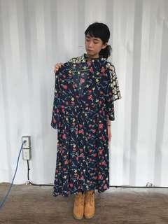 日本古著 碎花洋裝/罩衫