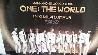 Wanna One Concert Ticket 21/7/18 Arena Axiata
