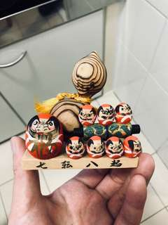 日本回流傳統手工藝達摩擺件