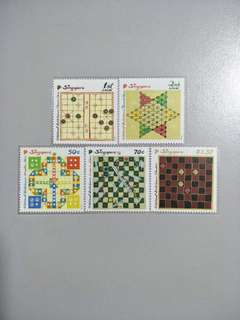 Singapore Stamps Traditional Board Games