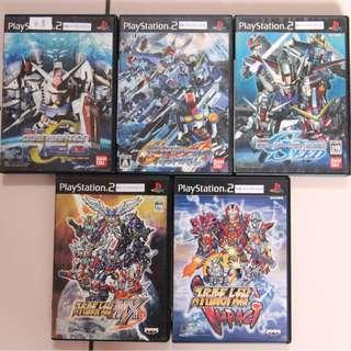 🚚 PS2 日版 SD 鋼彈 G 世代 NEO 戰魂 SEED 超級機器人大戰MX/中古/共5片/不拆賣/免運費